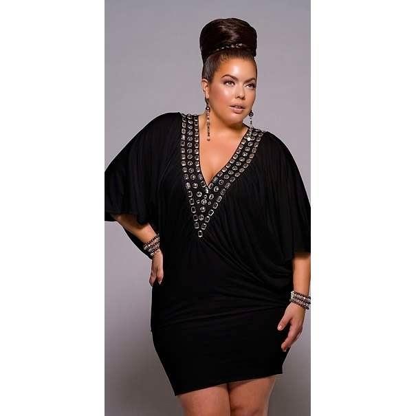 Elegant black dresses for plus size women