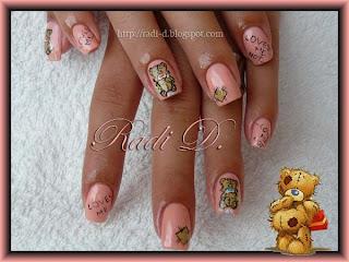 Teddy bear decoration, Essence colour&go 110 Modern Romance