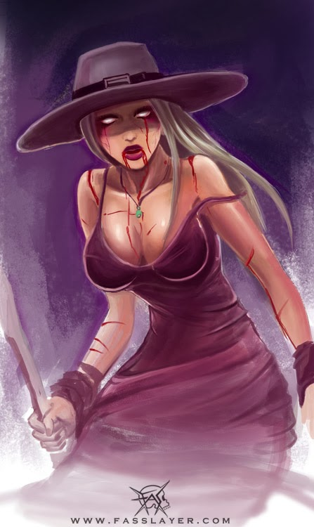 zombie witch illustration