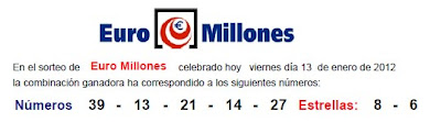 euromillones viernes 13 enero