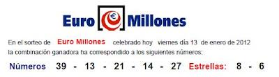 euromillones viernes 13 enero