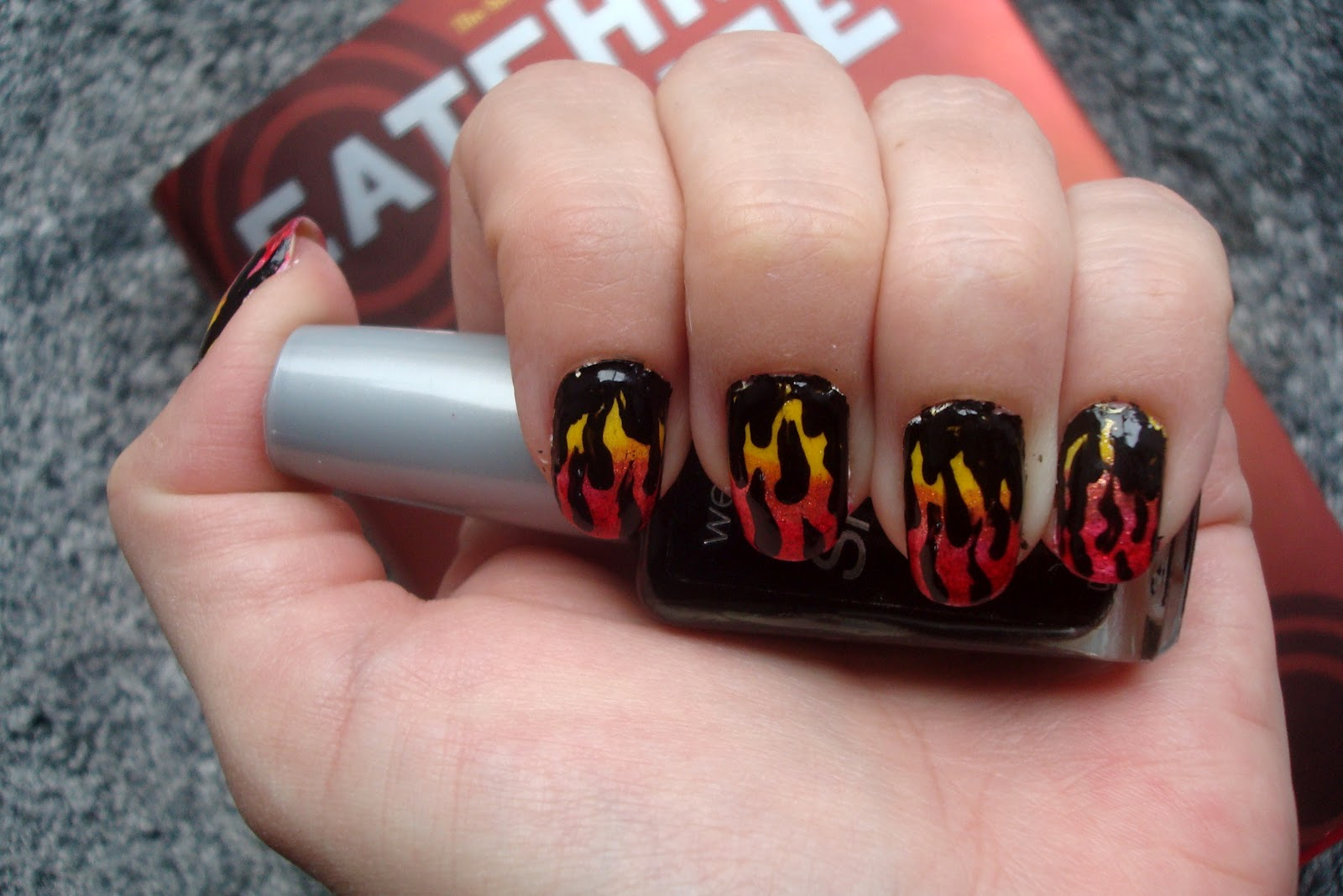 I Know Other Stuff: Hunger Games Manicure, The Girl Who Was on Fire ...