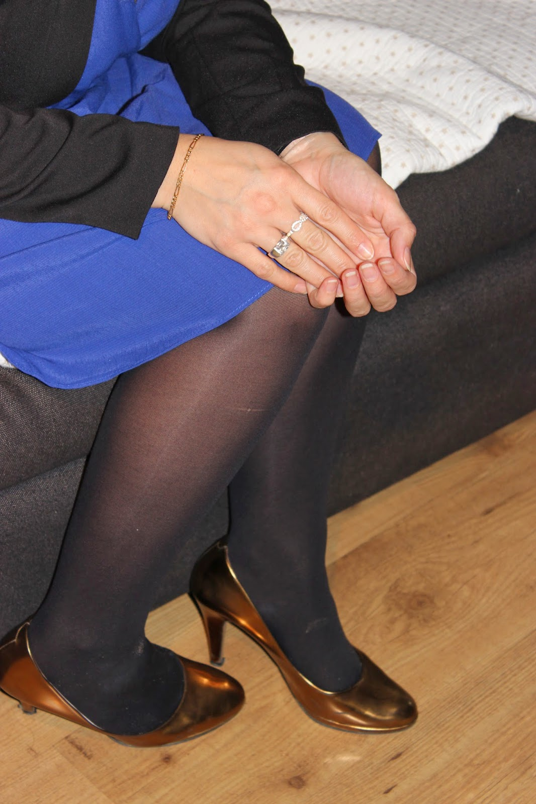 headband princesse Naf Naf robe bleu Klein