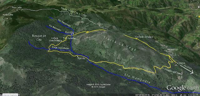Mapa Ruta del Bosque de Cea