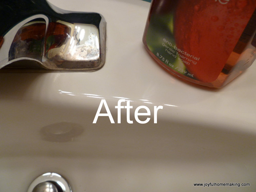 Vinegar as a Mineral Deposit Sink Cleanser - Joyful Homemaking
