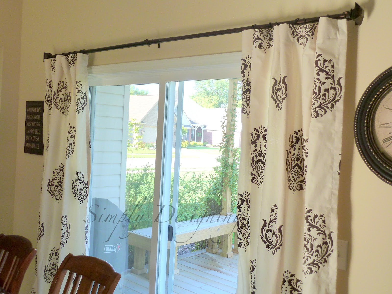 Diy Kitchen Curtains Diy Stenciled Curtains And A