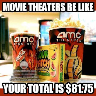Movie theaters be like, your total is $81.75