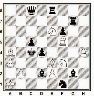 Problema de mate en 2 compuesto por R. Candela Sanz (2º premio, Problemista, 1966)