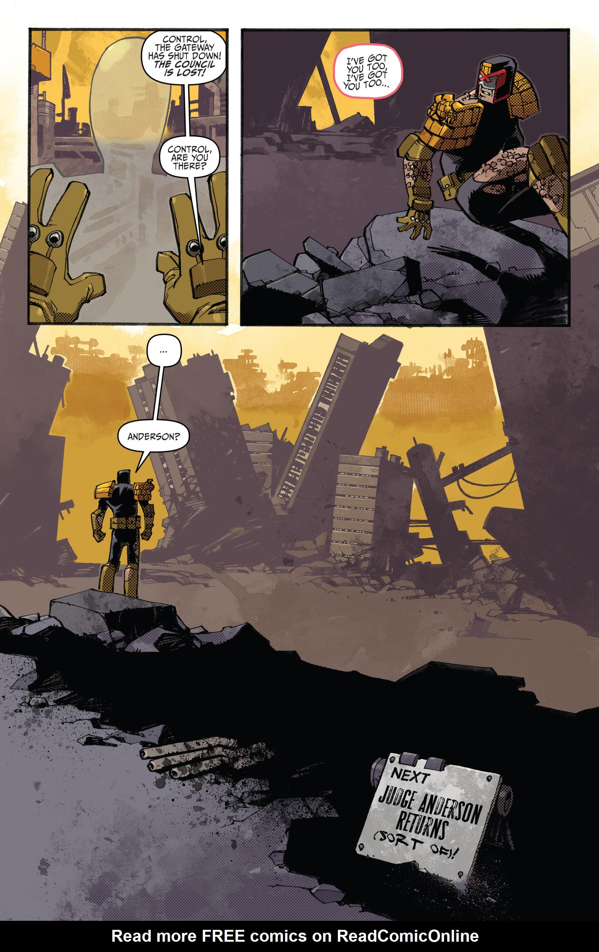 Read online Judge Dredd (2012) comic -  Issue #20 - 23