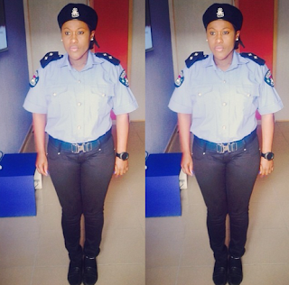 Uche Jmbo Police woman Outfit in New Movie .