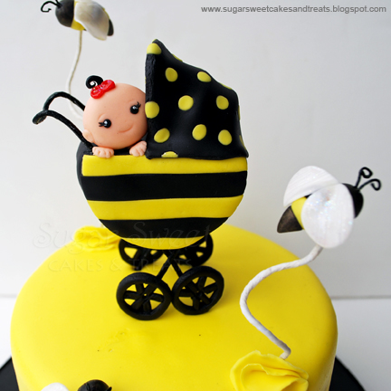 Bumble Bee Baby Shower Cake And Cupcakes Sugar Sweet Cakes And Treats
