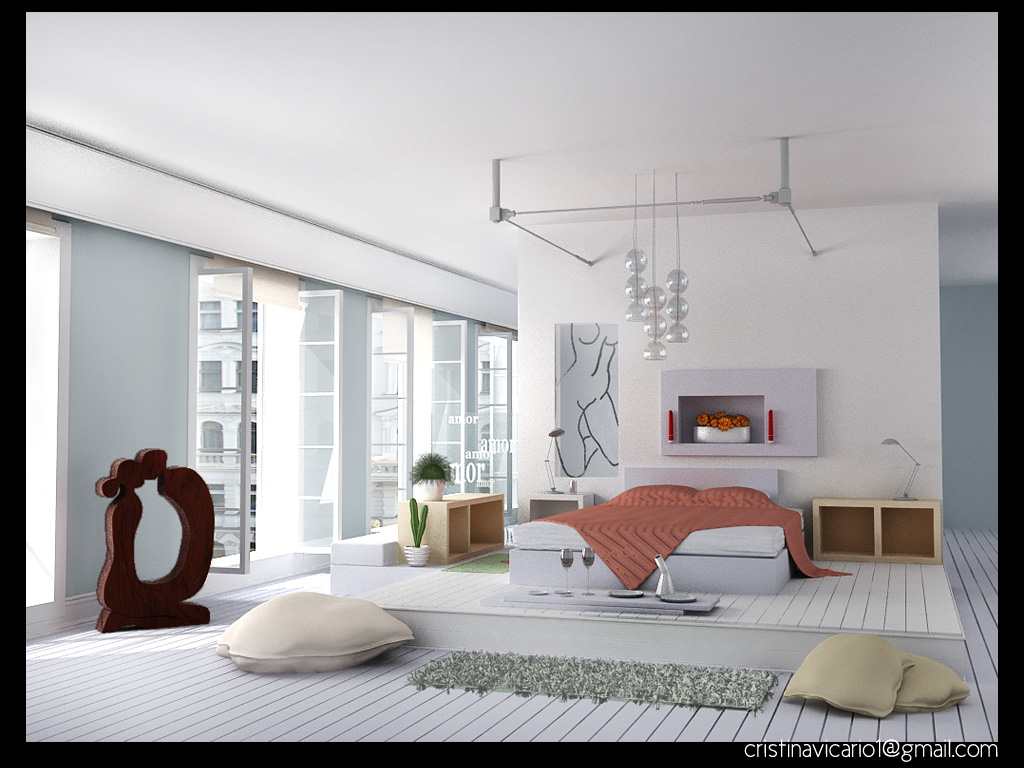 Cristina vicario arquitecto dise o dormitorio estilo paris - Diseno dormitorio ...