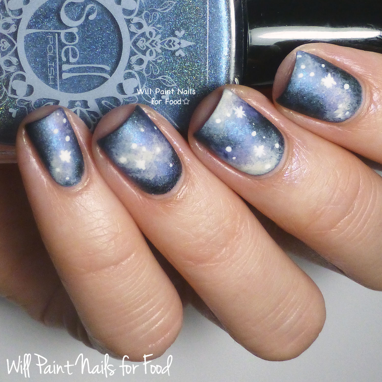 Galaxy Nails with Spell Polish