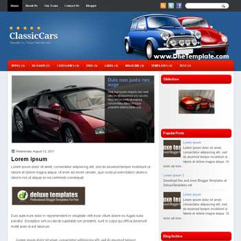 ClassicCars Blogger Template blogger template. free blogspot template