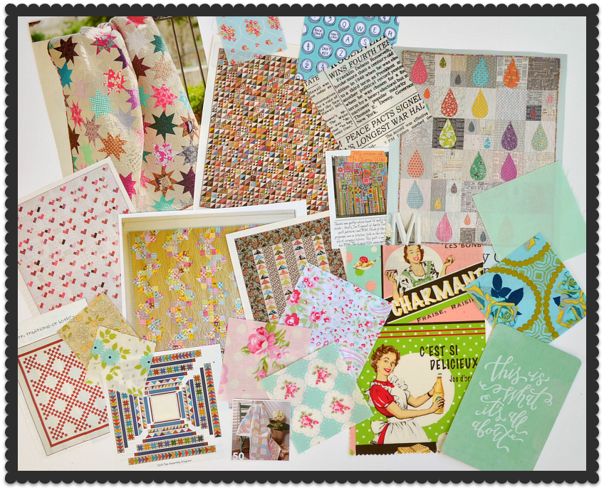 quilting inspiration board