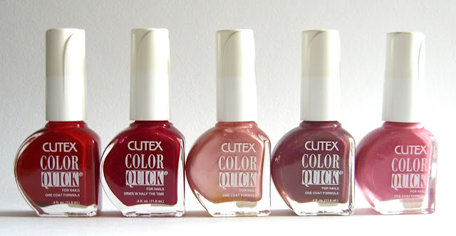 Cutex -Ready Set Red, Cool Chrison, Mauve Lightening, Brown Berry, Lively Lilac