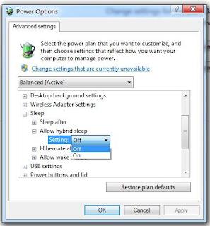 Hibernate Komputer Windows 7