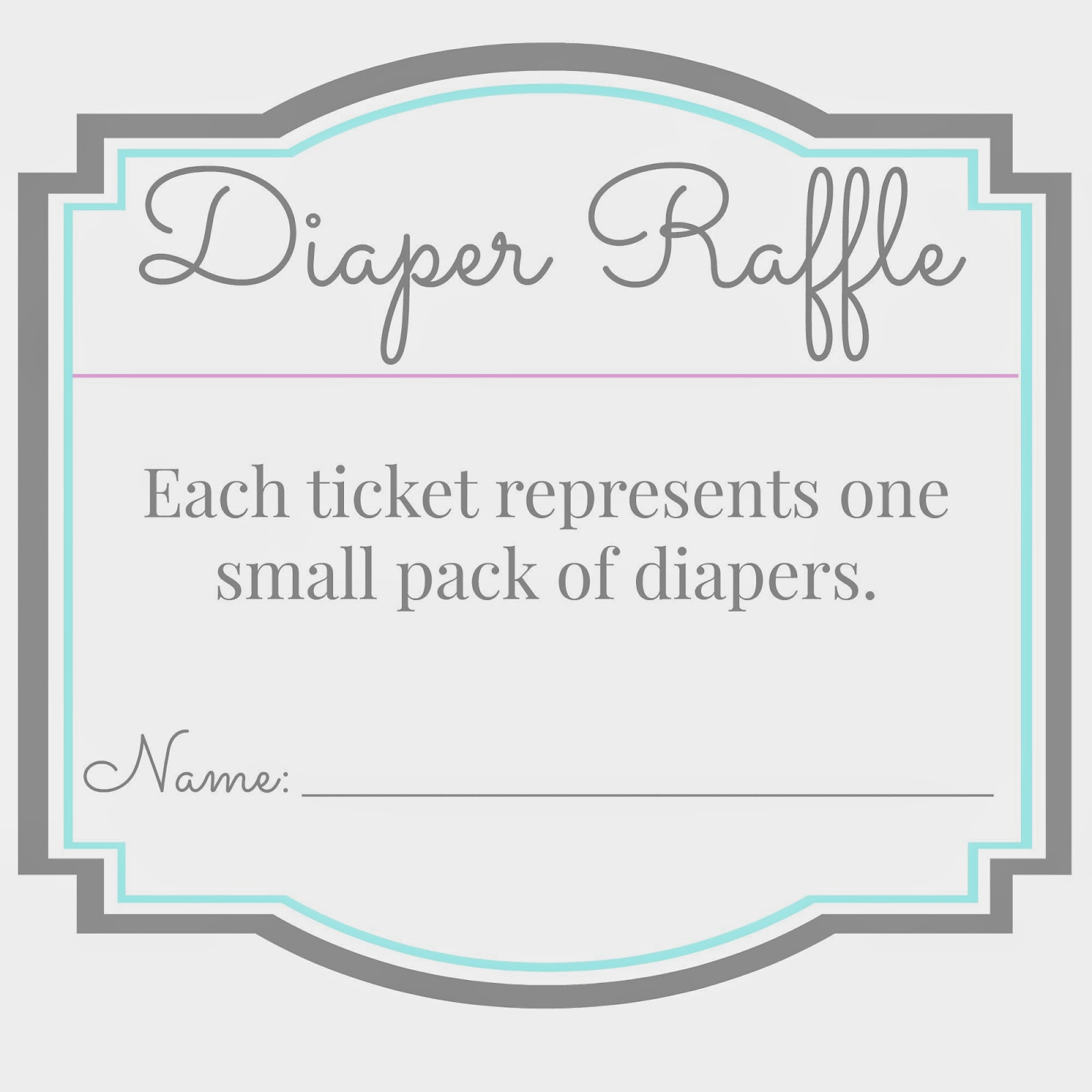Free Diaper Raffle Printable Tickets Free Printable Baby Shower Raffle ...