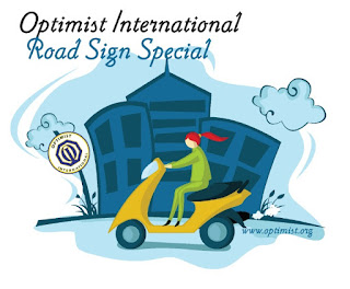 road sign optimist international