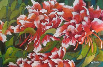 """Florid Peonies 24x36"""""""