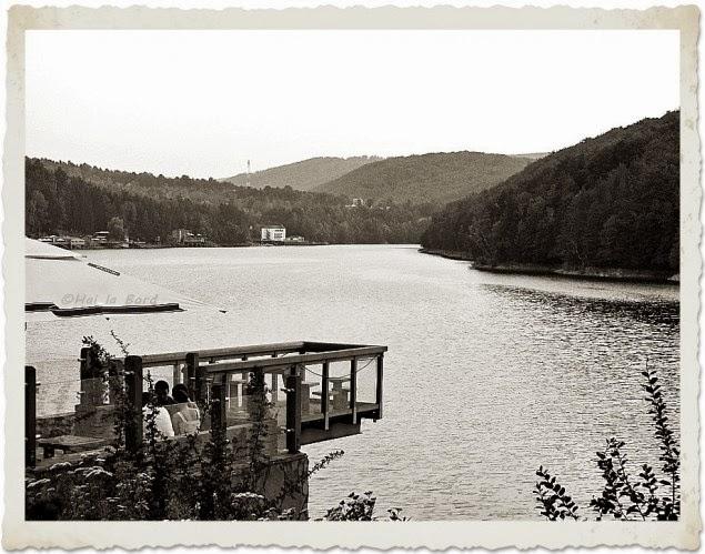 lacul gozna valiug apus