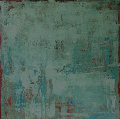 Abstract painting by Karri Allrich. Title Mineral. 48x48 inches