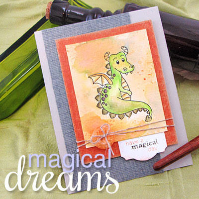Dragon Card - Magical Dreams stamp set by Newton's Nook Designs