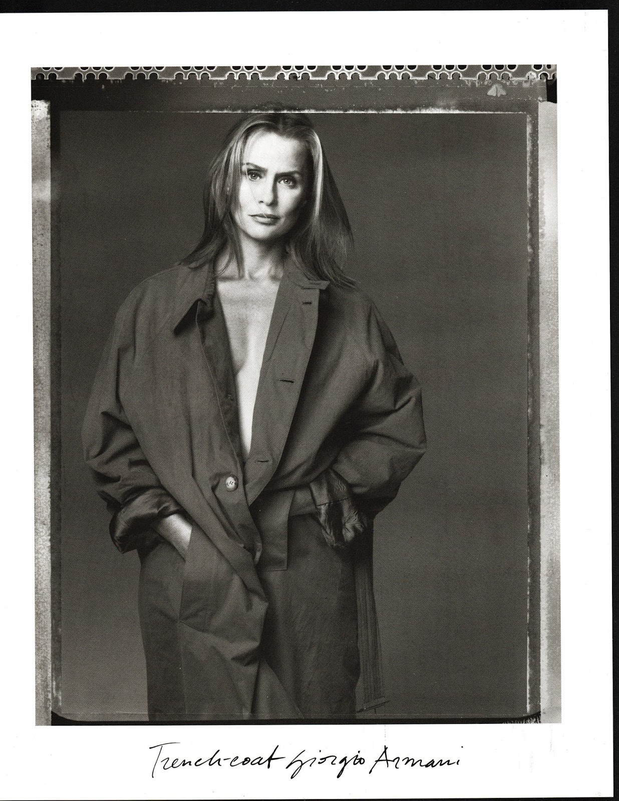 Lauren Hutton wearing Giorgio Armani, Armani Jeans & Emporio Armani photographed by Steven Meisel for Vogue Italia December 1993