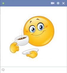 New Facebook Emoticon - Coffee Smiley