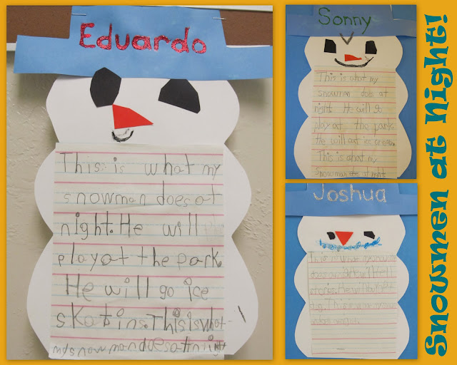photo of: snowman bulletin board, winter bulletin board, kindergarten winter bulletin board