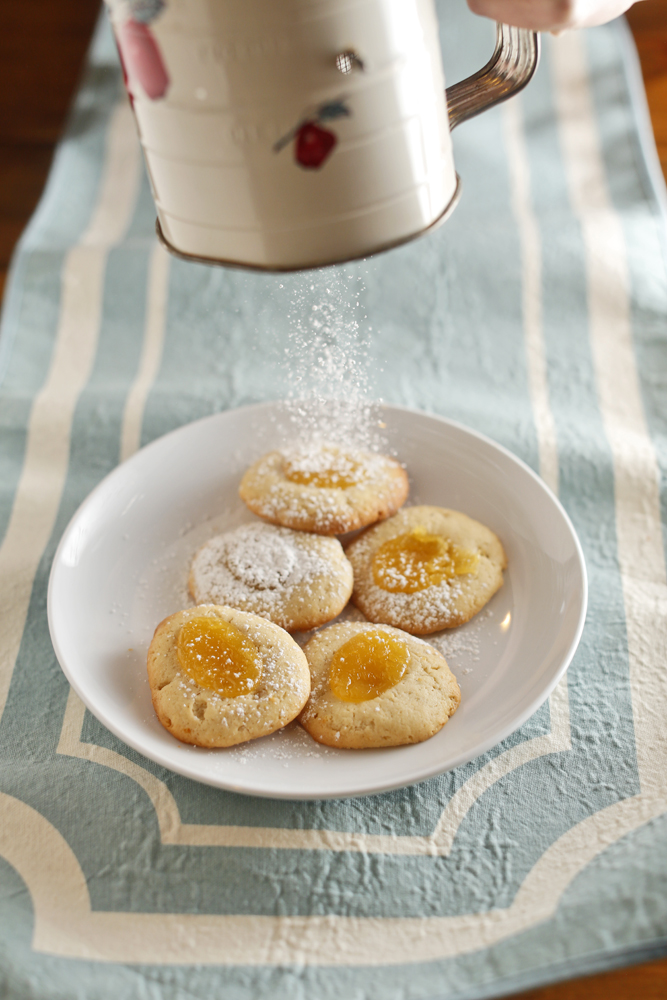 The Chubby Vegetarian: Lemon Curd Thumbprint Cookies