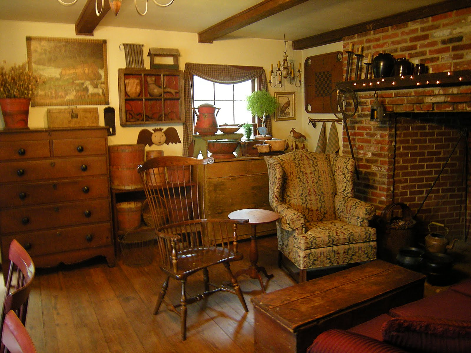 Country primitive rooms pictures