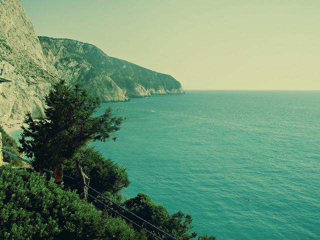 lefkas island greece view ionian portokatsiki