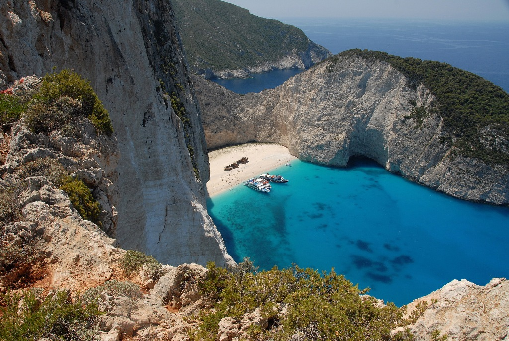Navagio Beach Or Shipwreck Can Be Found On The Northwest Side Of Zakynthos Island Which Is In Turn Off West Coast Greece