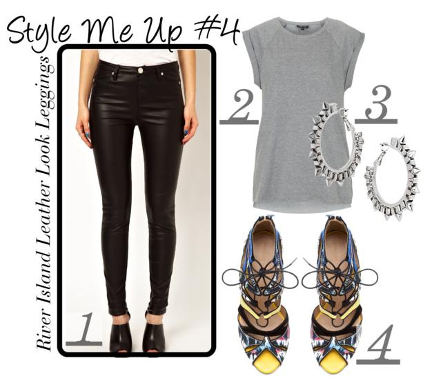 How to style River Island Molly Leather Look Leggings