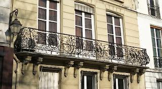 Balcon du 68 quai des Orfèvres à Paris