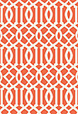 Schumacher Imperial Trellis Ivory/Mandarin 5005800