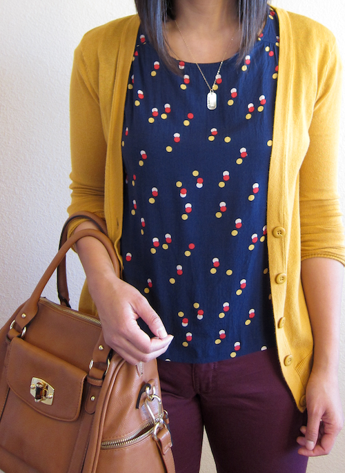 Putting me together mustard and burgundy for What goes with burgundy shirt