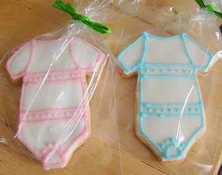 Galletas traje de bebé