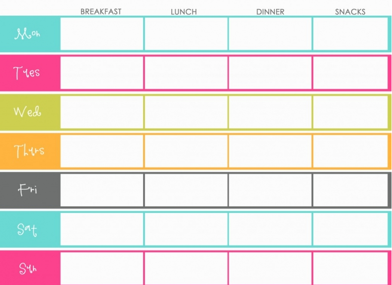 The design pages free printable meal planners for Planner to print