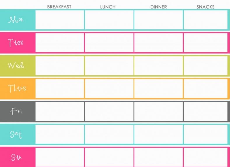 Printable Meal Planner Calendar : The design pages free printable meal planners