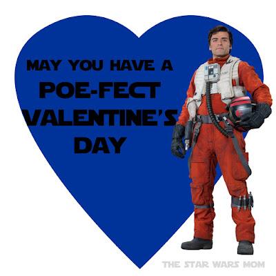 Poe Dameron Valentine Free Printable