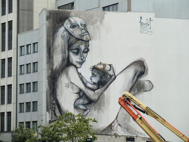 Street Art By Herakut In Frankfurt For The Giant Story Book Project - Progress Shot 3