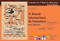 """2ª  Bienal Internacional da Caricatura - mostra """"Centenário do 1º Salão dos Humoristas: 1916-2016"""""""