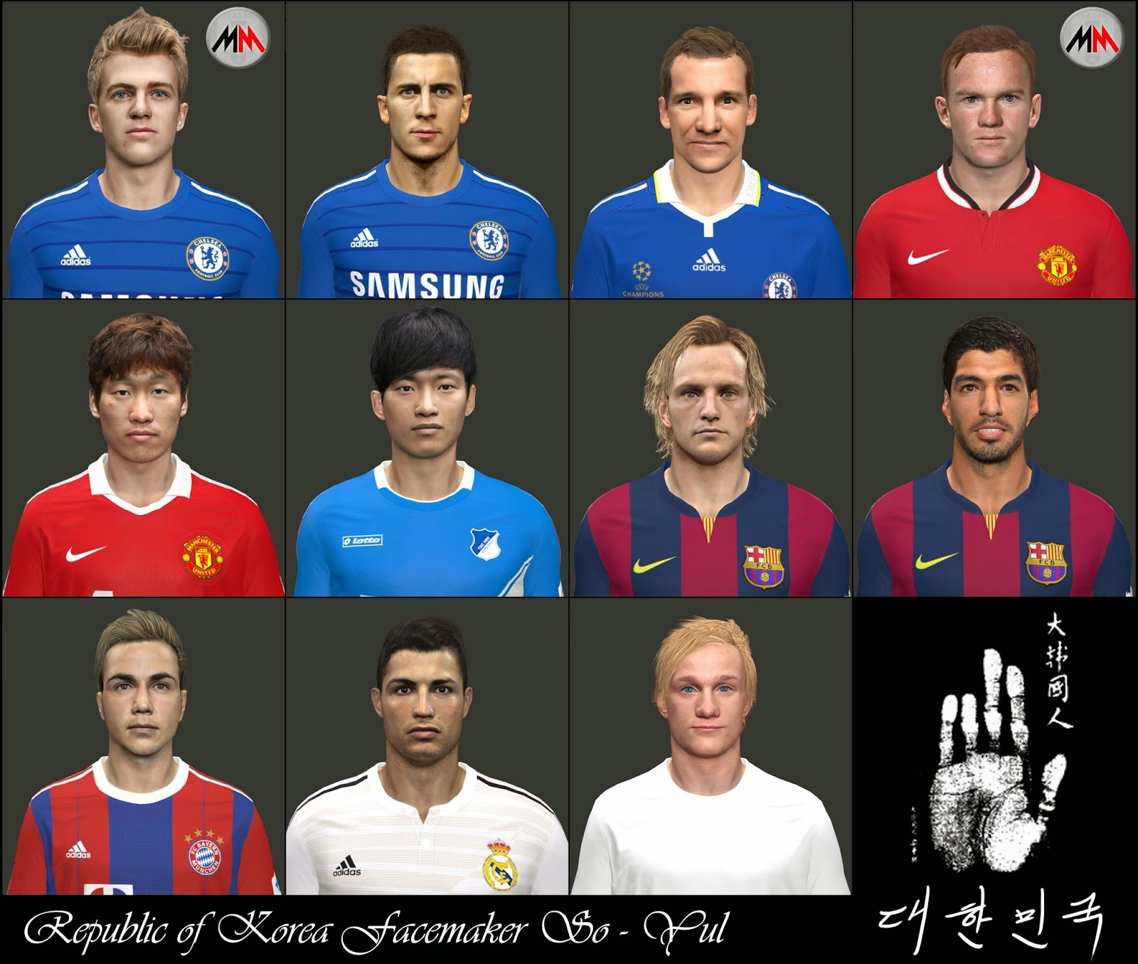 PES 2014 Facepack International by So-Yul