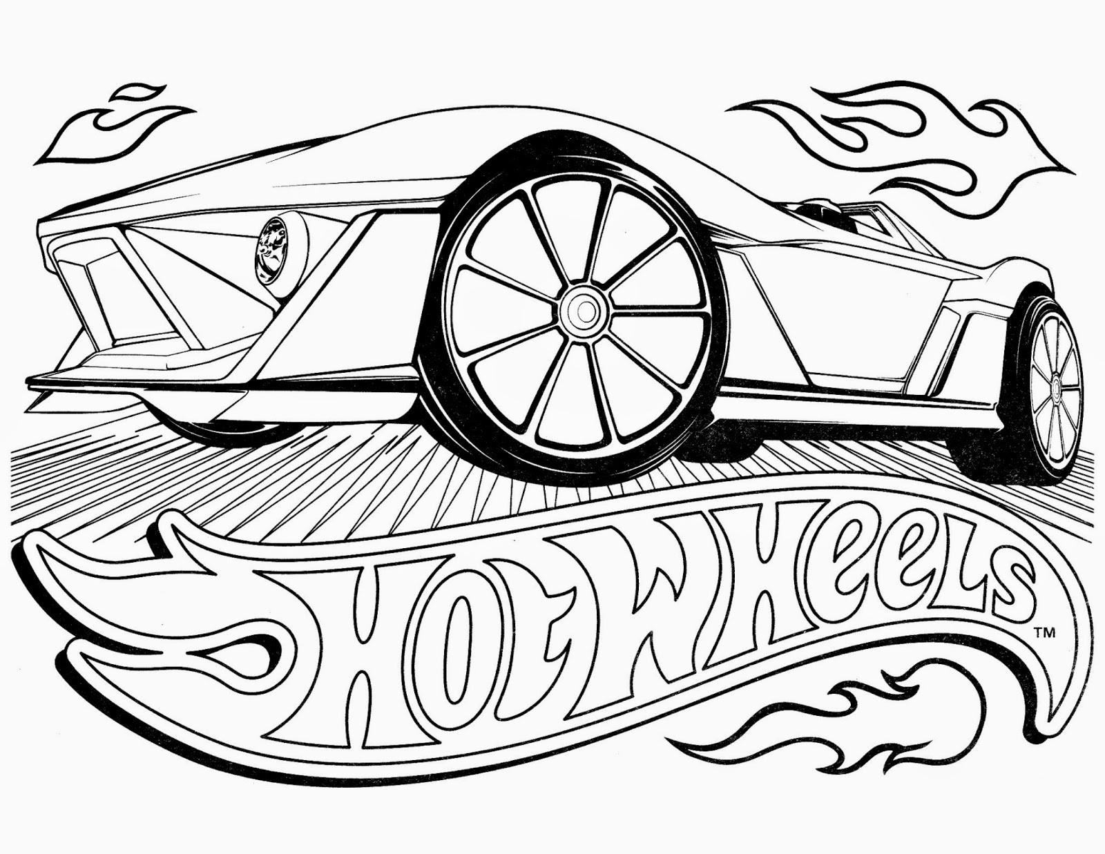 Hot Wheels Racing League: Hot Wheels Coloring Pages - Set 4