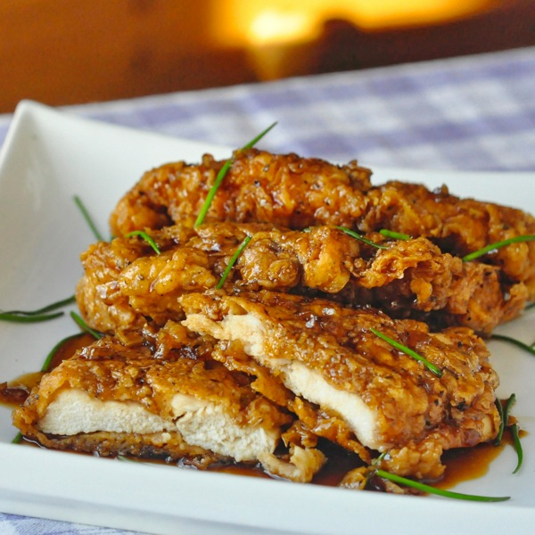 Double Crunch Honey Garlic Chicken Breasts