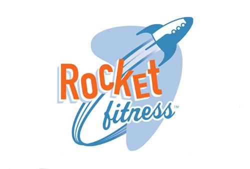 Logótipos Vintage - Rocket Fitness - Fuelhaus