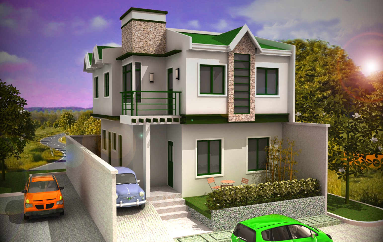 tampilan desain rumah minimalis 2 lantai karya Marte Designs