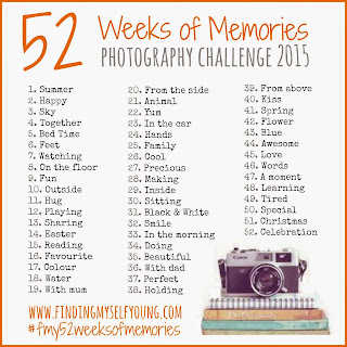 Finding Myself Young 52 Weeks of Memories 2015 photography challenge prompts.